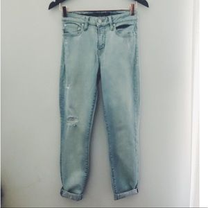 Anthropologie light denim skinny jeans size 27